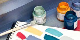 Product, Blue, Paint, Aqua, Art paint, Teal, Turquoise, Orange, Stationery, Azure,