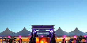 Property, Purple, Real estate, Lavender, Shade, Dusk, Landscape lighting, Roof, Evening, Wood flooring,