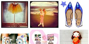 Pattern, Style, Orange, Teal, Collage, Creative arts, Design, Peach, Craft, Fashion design,