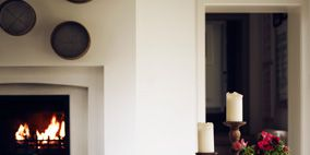 Room, Property, Table, Furniture, Interior design, Interior design, Bottle, Home accessories, Dining room, Drinkware,