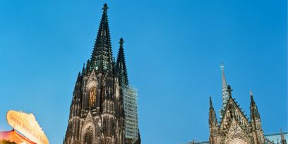 Spire, Public space, Steeple, Landmark, Place of worship, Christmas decoration, Cathedral, Holiday, Chapel, Tower,