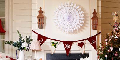 Interior design, Room, Home, Interior design, Christmas decoration, Living room, Christmas, Basket, Holiday, Hearth,