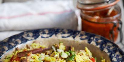 Food, Cuisine, Ingredient, Dish, Mason jar, Recipe, Bowl, Vegetable, Serveware, Food storage containers,