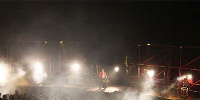 People, Crowd, Audience, Public event, Electricity, Concert, Rock concert, Lens flare, Smoke, Fog,