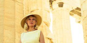 Hat, Dress, Photograph, Formal wear, Sun hat, Costume accessory, Fashion accessory, Headgear, Gown, One-piece garment,