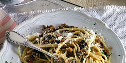 Cuisine, Food, Serveware, Pasta, Spaghetti, Dishware, Noodle, Chinese noodles, Tableware, Recipe,