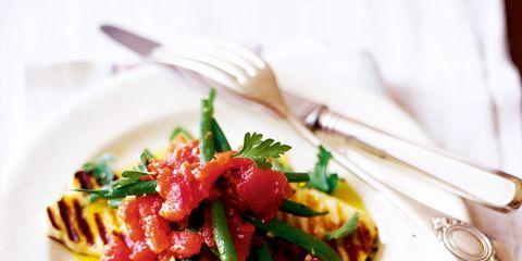 Dishware, Food, Tableware, Kitchen utensil, Cutlery, Garnish, Cuisine, Fork, Dish, Leaf vegetable,