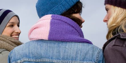 Clothing, Blue, Winter, Jacket, Denim, Textile, Outerwear, Jeans, Headgear, Electric blue,