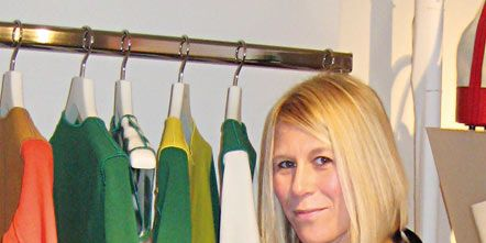 Shoulder, Textile, Clothes hanger, Blond, Fashion design, Curtain, Boutique, Dry cleaning,