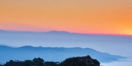 Nature, Mountainous landforms, Natural landscape, Highland, Atmosphere, Landscape, Hill, Dusk, Mountain range, Horizon,