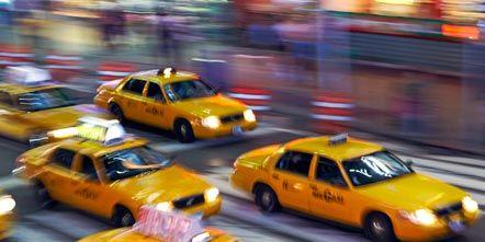 Land vehicle, Vehicle, Yellow, Automotive parking light, Car, Taxi, Sedan, Full-size car, Hood, Mid-size car,
