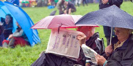 Human, Sitting, Umbrella, Rain, Boot,