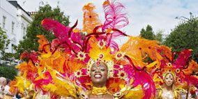 People, Event, Yellow, Performing arts, Entertainment, Social group, Samba, Dancer, Carnival, Summer,