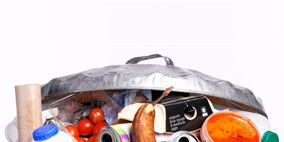 Orange, Home accessories, Cylinder, Still life photography, Silver, Aluminium, Lid, Produce, Fruit, Tin,