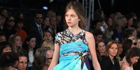 Clothing, Leg, People, Event, Dress, Fashion show, Shoulder, Outerwear, Formal wear, Audience,