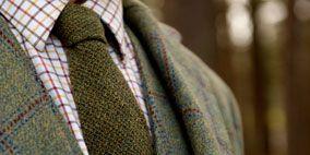 Brown, Sleeve, Collar, Pattern, Textile, Dress shirt, Plaid, Beige, Blazer, Tartan,