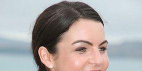 Hair, Ear, Lip, Smile, Cheek, Hairstyle, Skin, Chin, Forehead, Shoulder,