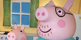 Pink, Aqua, Teal, Cartoon, Turquoise, Toy, Circle, Baby toys, Plastic, Animation,