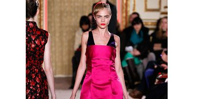 Shoulder, Joint, Outerwear, Red, Style, Waist, Street fashion, Dress, One-piece garment, Fashion model,