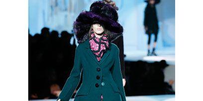 Winter, Fashion show, Textile, Outerwear, Hat, Style, Fashion model, Runway, Street fashion, Jacket,