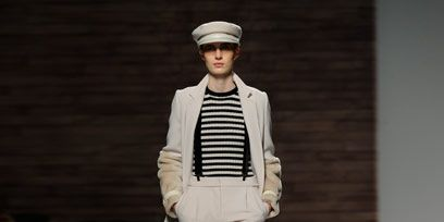 Clothing, Leg, Fashion show, Sleeve, Shoulder, Joint, Runway, Outerwear, Fashion model, Style,