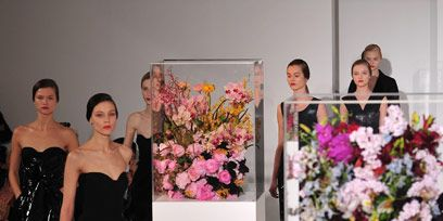 Clothing, Petal, Bouquet, Shoulder, Dress, Strapless dress, Flower, Formal wear, Pink, Cut flowers,
