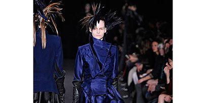 Clothing, Human, Textile, Style, Fashion show, Fashion, Fashion model, Leather, Runway, Electric blue,