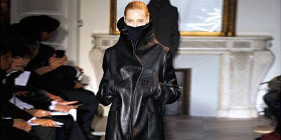 Textile, Fashion, Leather, Leather jacket, Fashion model, Fashion design, Costume design, Latex clothing, Latex, Fur,
