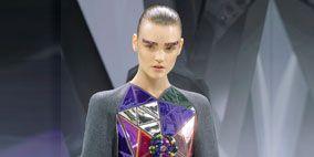 Sleeve, Textile, Fashion show, Electric blue, Fashion, Cobalt blue, Fashion model, Model, Fashion design, Haute couture,