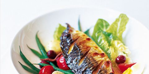 Food, Dishware, Serveware, Ingredient, Cuisine, Tableware, Kitchen utensil, Plate, Garnish, Seafood,