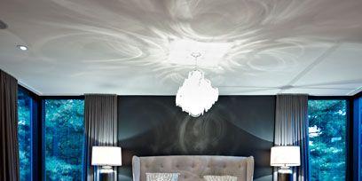 Bed, Lighting, Room, Interior design, Floor, Wood, Property, Bedding, Wall, Bedroom,