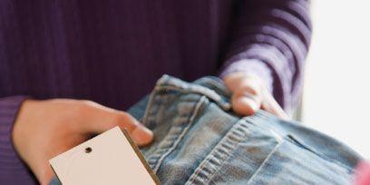Finger, Denim, Textile, Joint, Jeans, Wrist, Nail, Thumb, Street fashion, Paper product,