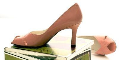 Brown, High heels, Sandal, Tan, Basic pump, Beige, Peach, Cosmetics, Face powder, Box,