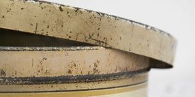 Product, Brown, Photograph, Khaki, Lid, Food storage containers, Beige, Metal, Material property, Crock,