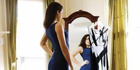 Clothing, Dress, Shoulder, Floor, Flooring, Photograph, Standing, Interior design, Formal wear, Style,
