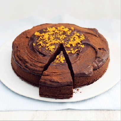 Dish, Food, Cuisine, Chocolate cake, Cake, Dessert, Flourless chocolate cake, Baked goods, Chocolate, Ingredient,