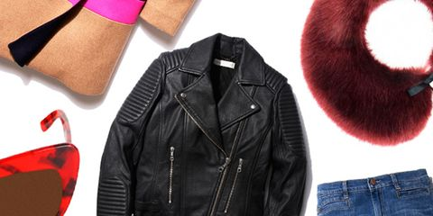 Clothing, Jacket, Denim, Collar, Textile, Red, Jeans, Outerwear, Pocket, Leather,