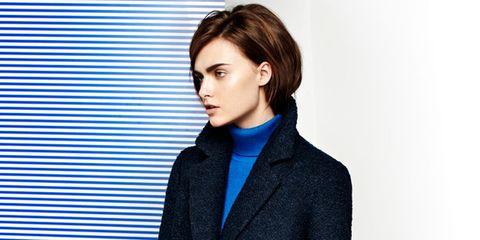 Clothing, Coat, Collar, Sleeve, Standing, Outerwear, Dress shirt, Formal wear, Style, Blazer,