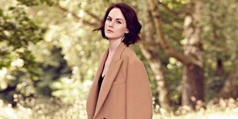 Coat, Brown, Collar, Sleeve, Shoulder, Joint, Outerwear, Formal wear, Overcoat, Blazer,