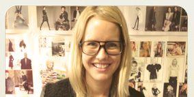 Eyewear, Glasses, Vision care, Photograph, Facial expression, Shelf, Photography, Snapshot, Blond, Long hair,