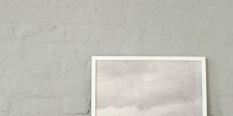 Wall, Cone, Orange, Rectangle, Visual arts, Peach, Triangle, Illustration, Art paint, Modern art,