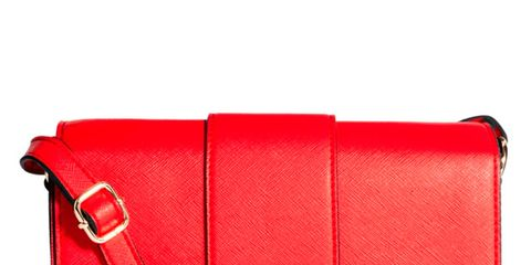 Bag, Textile, Red, Leather, Shoulder bag, Luggage and bags, Maroon, Rectangle, Coquelicot, Strap,