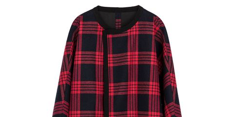 Clothing, Plaid, Product, Tartan, Pattern, Sleeve, Collar, Red, Textile, Outerwear,