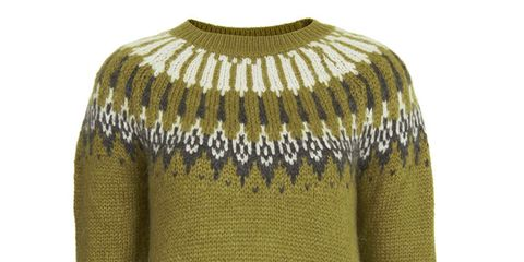 Brown, Yellow, Product, Sleeve, Textile, Pattern, Sweater, Wool, Woolen, Fashion,
