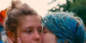 Ear, Lip, Hairstyle, Skin, Forehead, Shoulder, Mammal, Summer, Romance, Kiss,