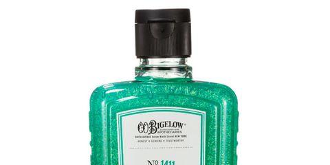 Fluid, Liquid, Product, Bottle, Distilled beverage, Font, Glass bottle, Bottle cap, Teal, Aqua,