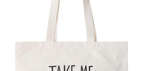 White, Style, Font, Bag, Shoulder bag, Tote bag, Material property, Shopping bag, Brand, Label,