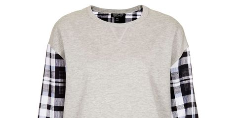 Product, Sleeve, Pattern, Textile, White, Style, Collar, Plaid, Sweater, Fashion,