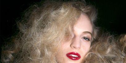 Nose, Mouth, Lip, Hairstyle, Chin, Eyebrow, Long hair, Eyelash, Blond, Lipstick,