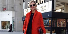 Sleeve, Standing, Photograph, Floor, Outerwear, Coat, Style, Overcoat, Flooring, Street fashion,
